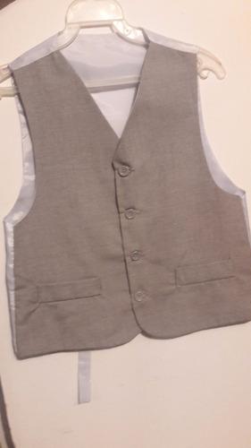 hermoso traje para niño color gris talla 10 3 botones