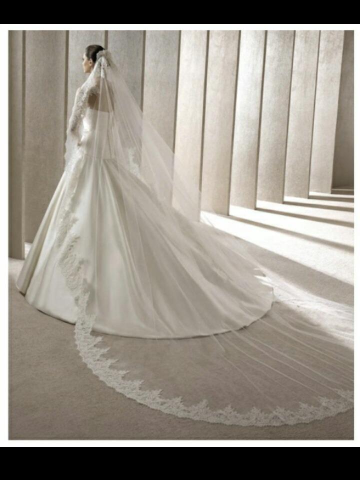 dddbc00b2 hermoso velo de novia español tipo catedral. Cargando zoom.