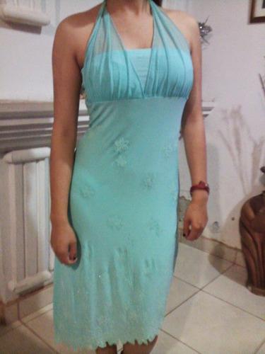 hermoso vestido aqua