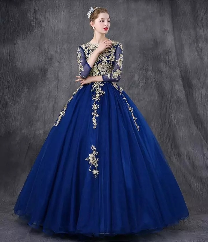 cb85811a95 hermoso vestido azul rey xv años envio gratis ml7010. Cargando zoom.