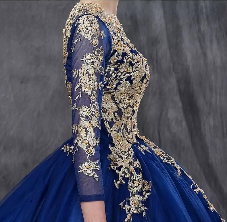 0807dbc9b8 Hermoso Vestido Azul Rey Xv Años Envio Gratis Ml7010 -   3