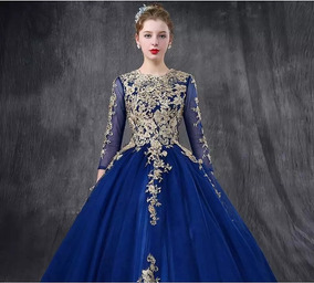 c38ddbf0d Hermoso Vestido Azul Rey Xv Años Envio Gratis Ml7010