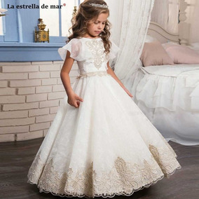 Hermoso Vestido Bautizo 1era Comunión Niñas De 4 A 6 Años