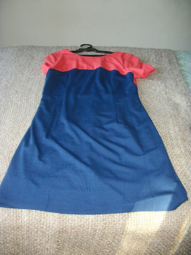 hermoso vestido bicolor talla l forrado