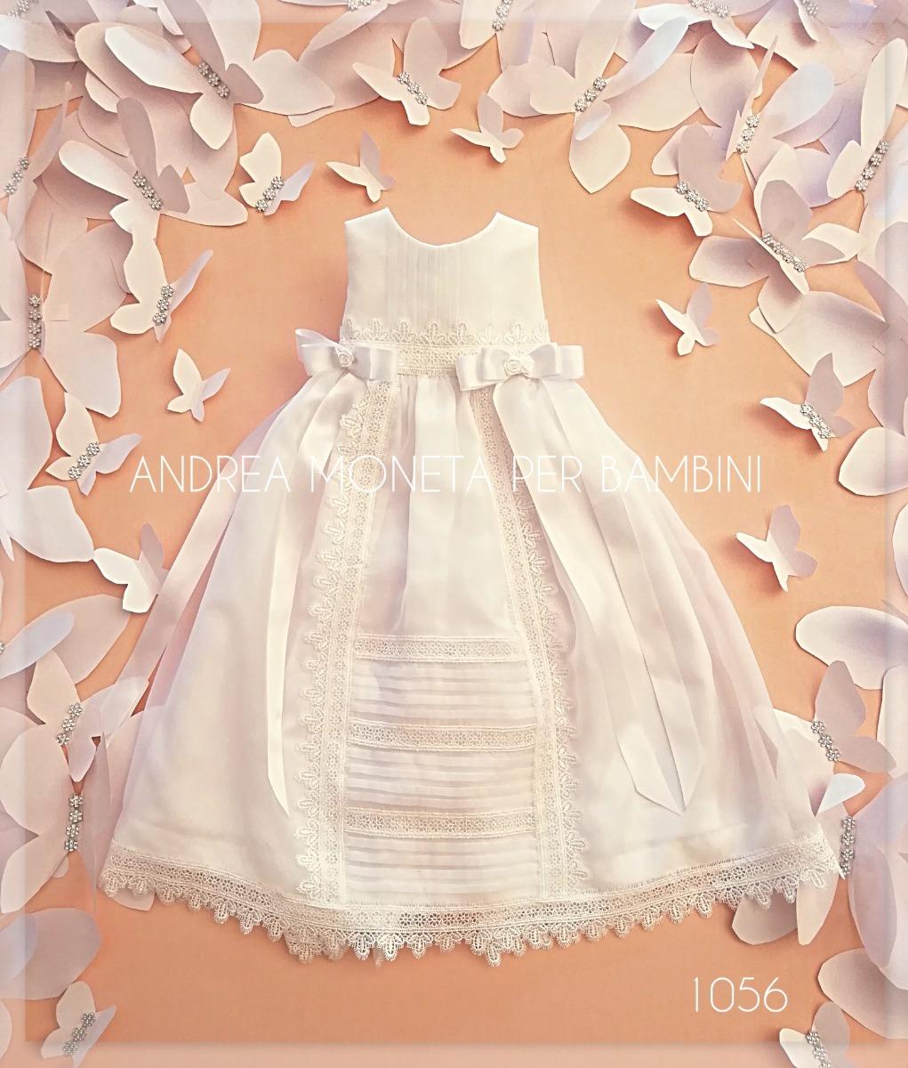 Hermoso Vestido Blanco Bautismo Bebe Andrea Moneta 1056 - $ 5.500,00 ...