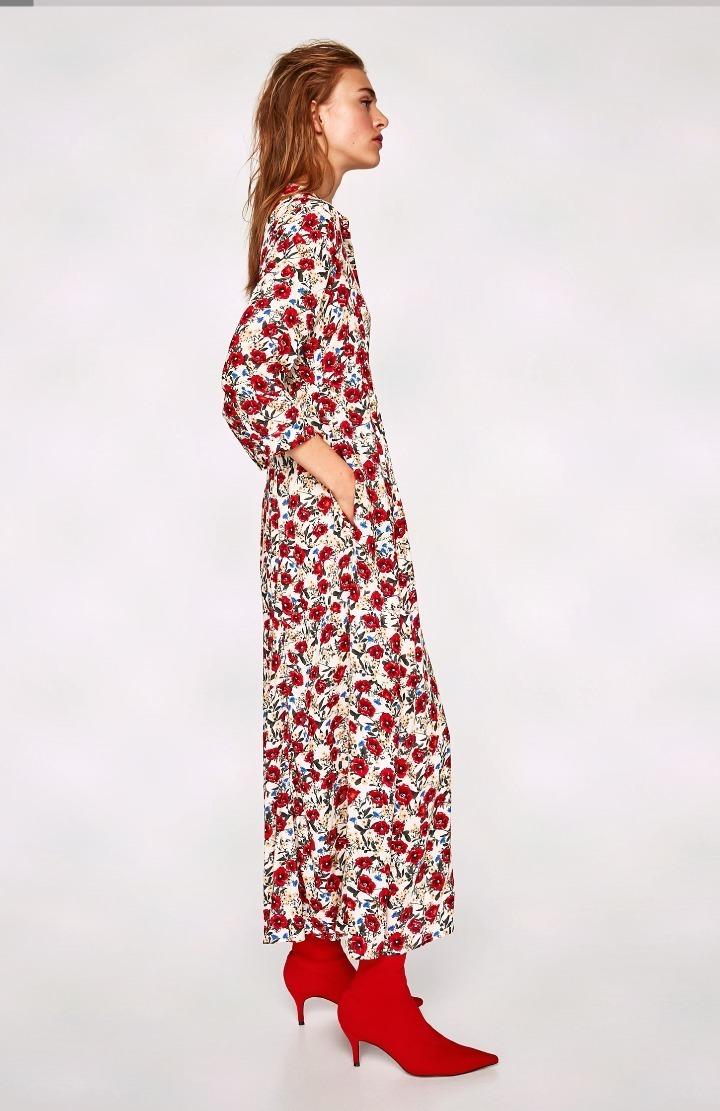 estilos clásicos novísimo selección volumen grande Hermoso Vestido Camisero L Estampado Zara