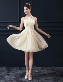 Hermoso Vestido Casual Color Champagne 7