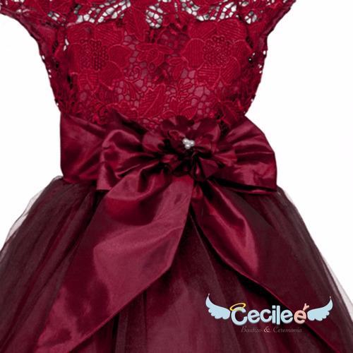 hermoso vestido ceremonia fiesta niña 077
