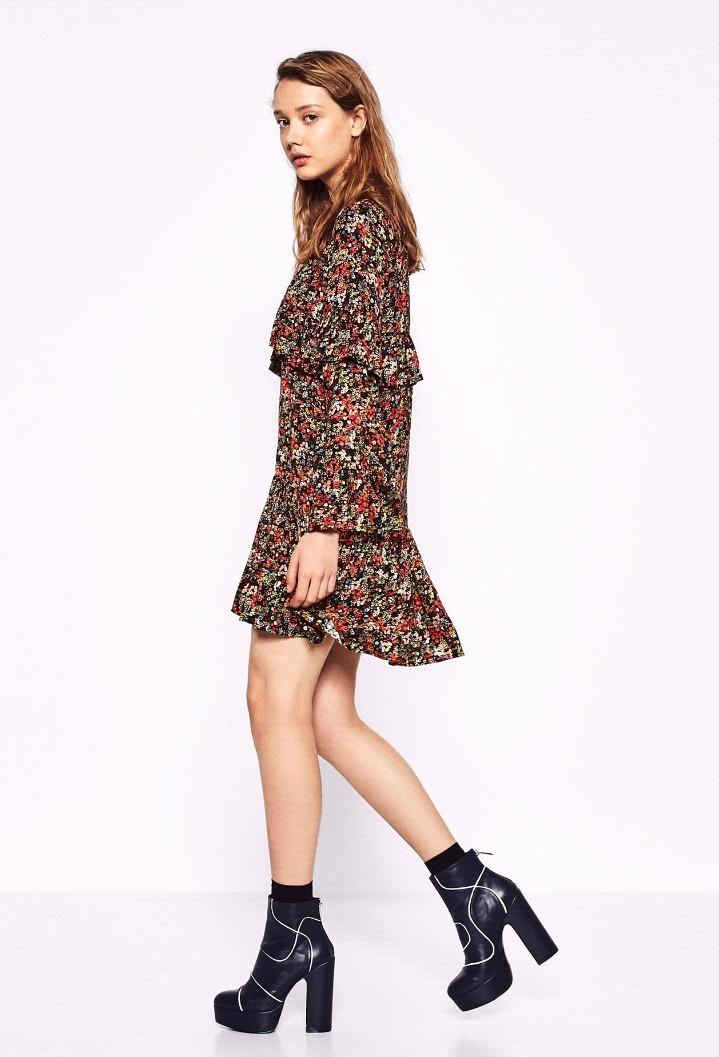 Vestido Zara Corto Hermoso L Estampado myv80wONn