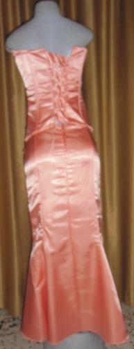 hermoso vestido de fiesta de dos piezas color salmon