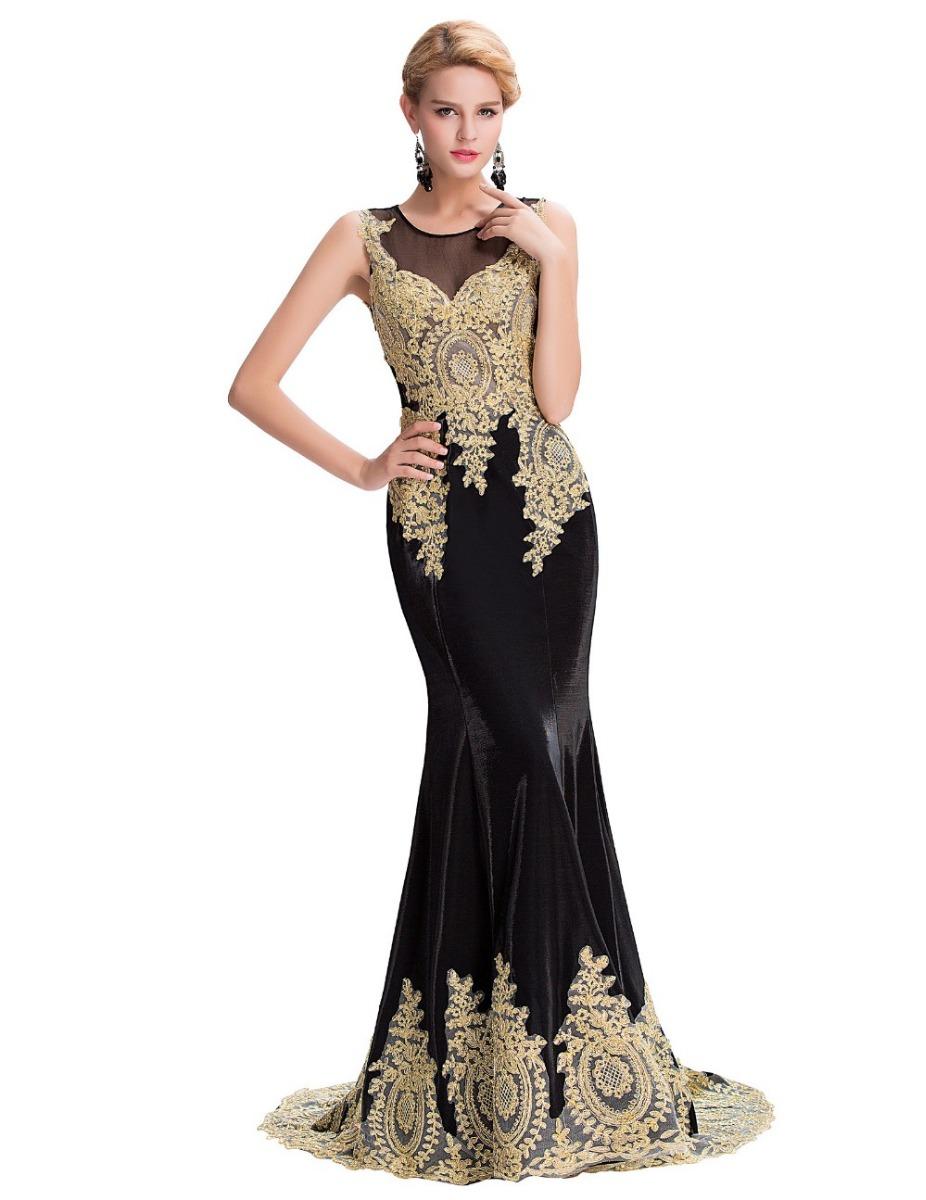 Vestidos de negro con dorado