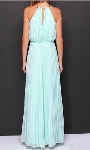 hermoso vestido de fiesta largo plisado  '18 unico!!!!!