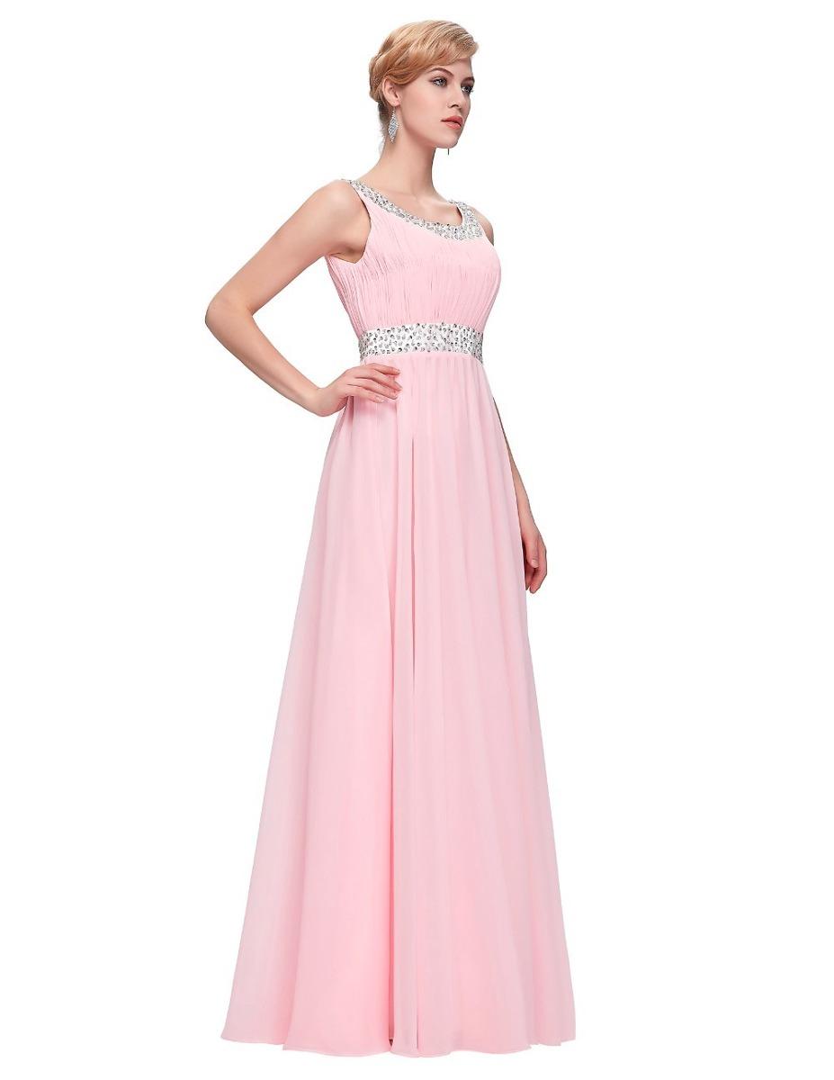Hermoso Vestido De Fiesta Noche Graduación Rosa Extra Grande ...