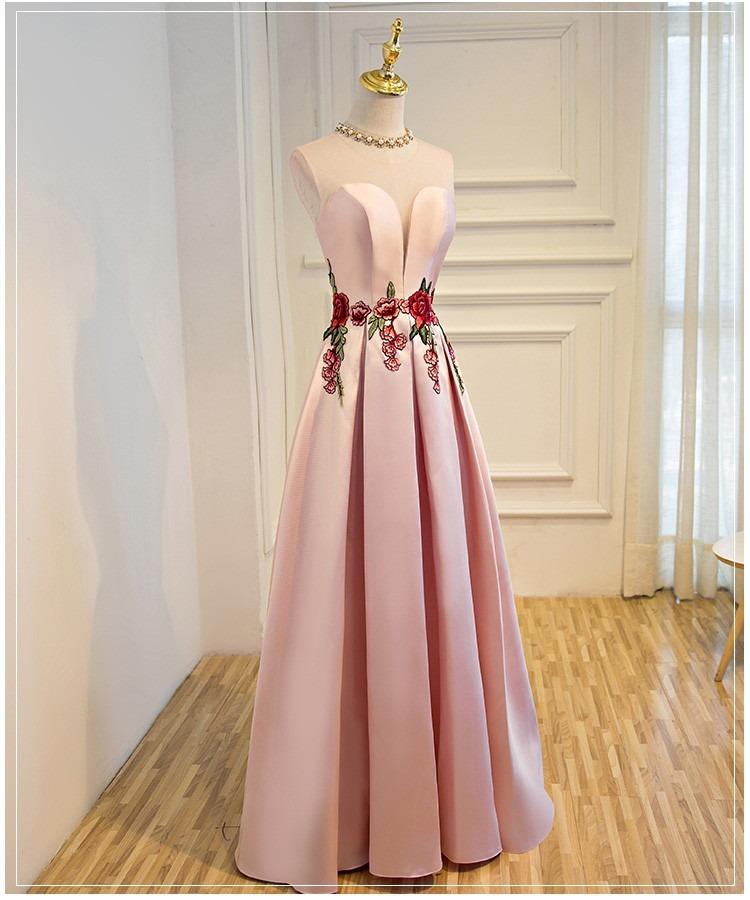 Vestidos de fiesta de color rosa palo