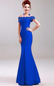 vanguardia de los tiempos gran descuento cliente primero Vestidos Mk Originales - Vestidos de Mujer Graduación Azul ...