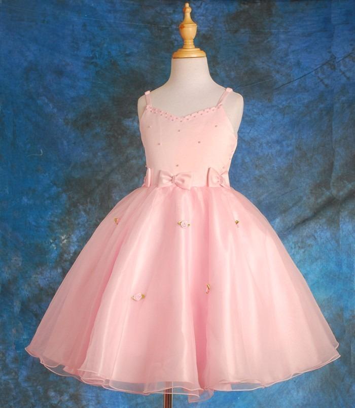 Blanco Hermoso Vestido De Color Rosa - Vestidos de Fiesta Largos ...