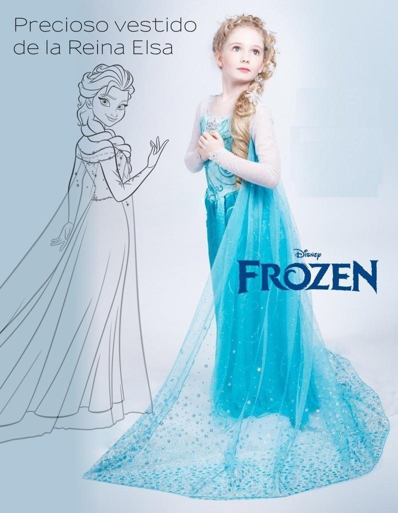 Hermoso Vestido De Frozen Elsa Niñas