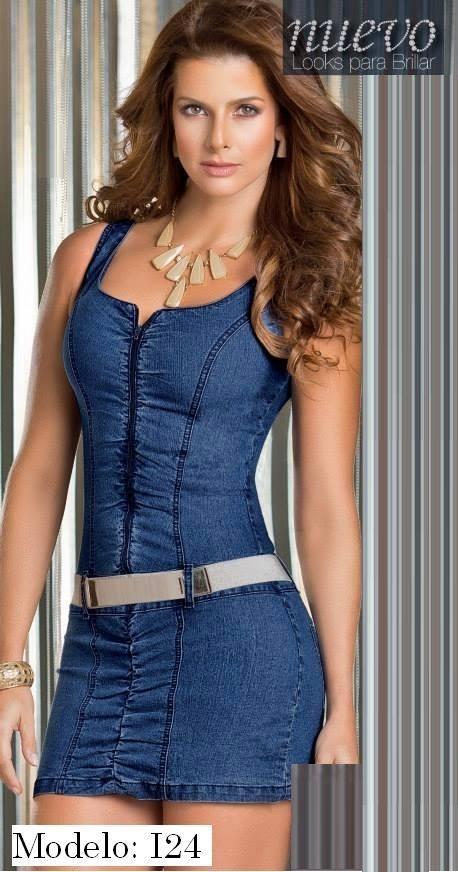 Modelos de vestidos cortos de jeans