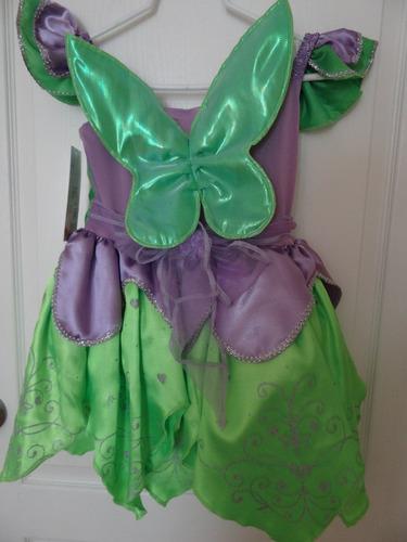 hermoso vestido de lujo campanita original disney unico