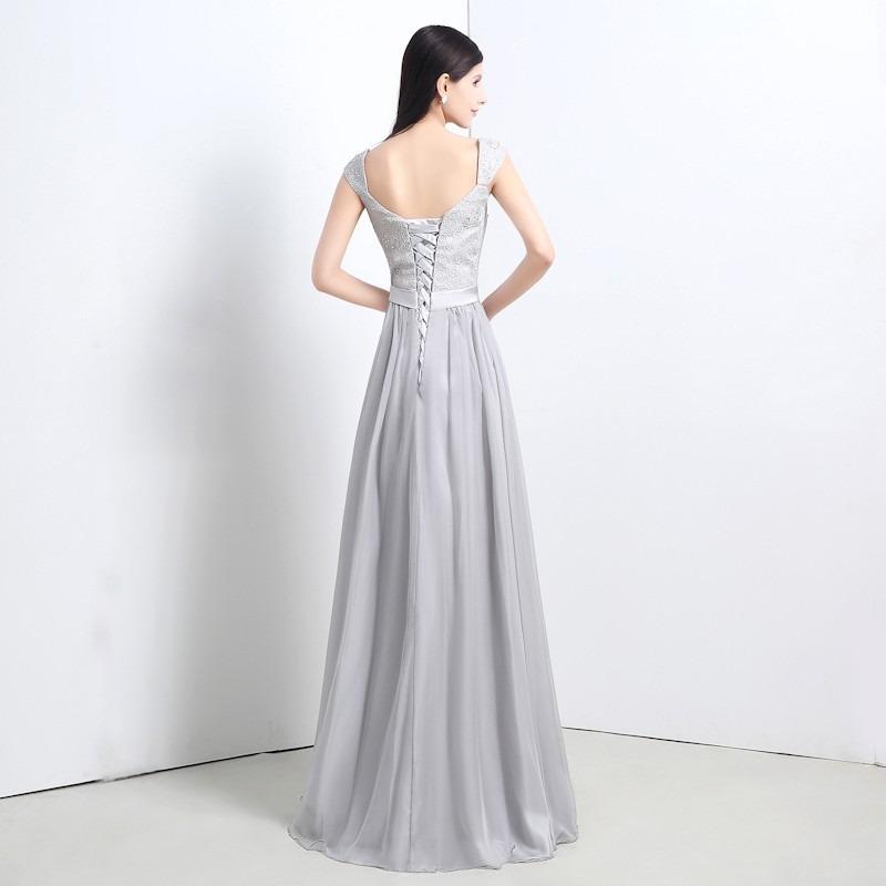 e41ec0953228f hermoso vestido de noche fiesta de encaje chiffon elegante. Cargando zoom.