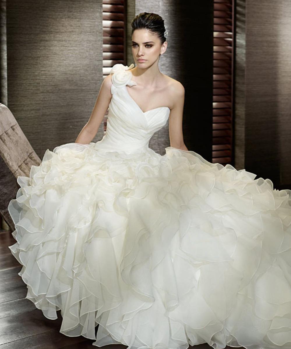 8a1fa4ec98a3b hermoso vestido de novia boda organza sirena princesa baile. Cargando zoom.