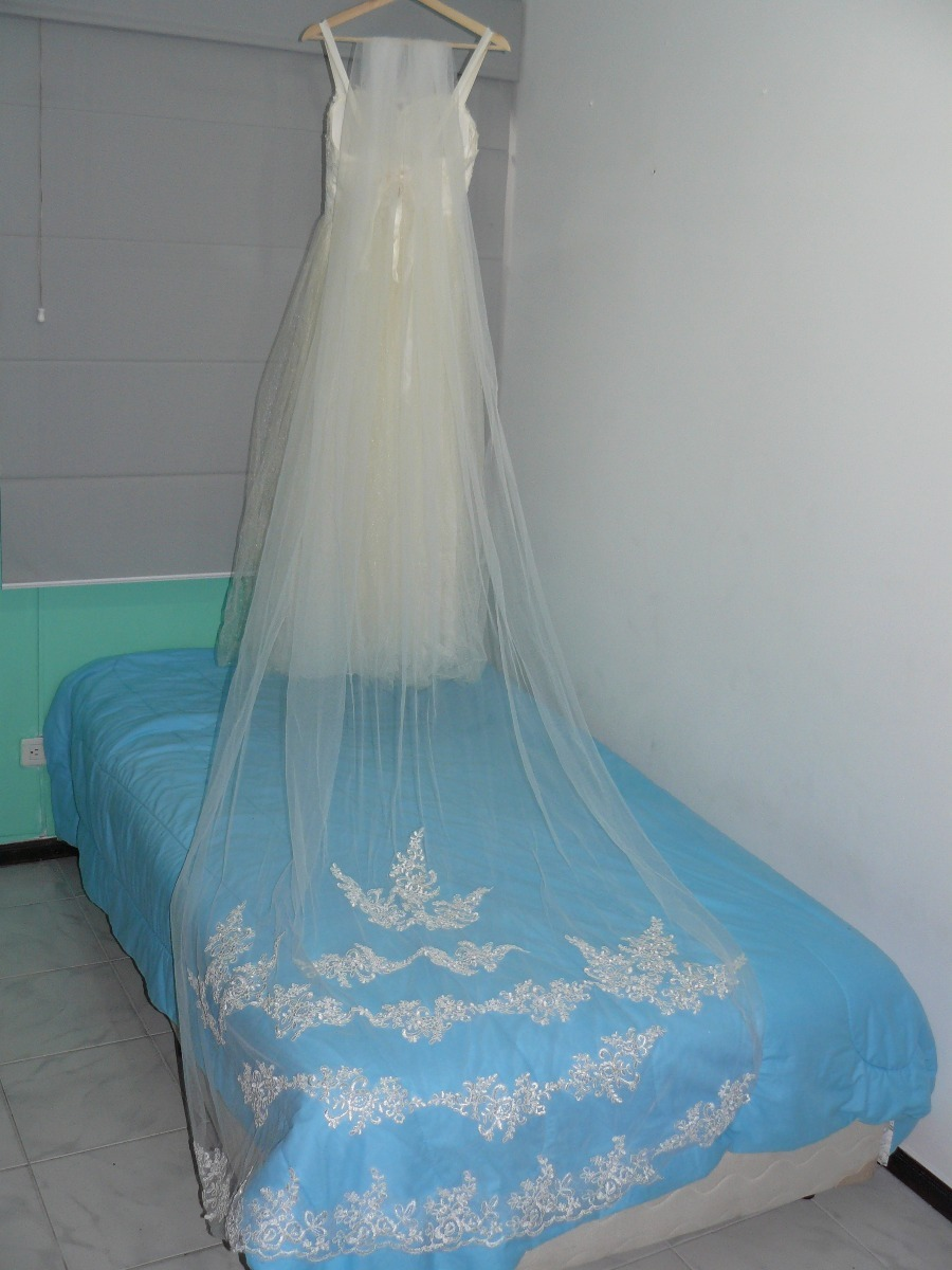 Hermoso Vestido De Novia Con Espectaculares Terminados - $ 350.000 ...