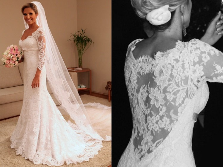 Vestidos de novia de encaje hermosos