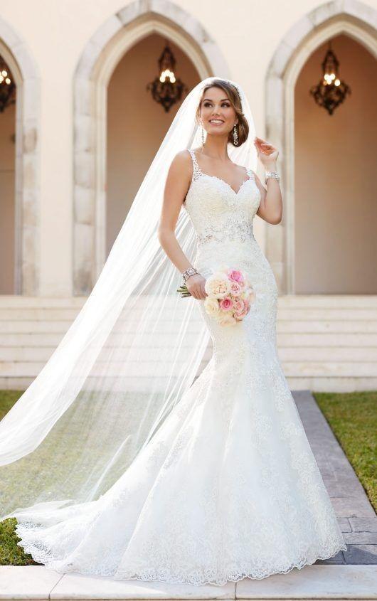 hermoso vestido de novia corte sirena a muy buen precio - $ 1.200