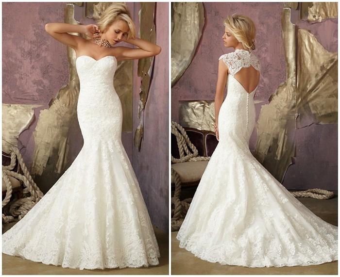 Vestidos de novia corte sirena hermosos