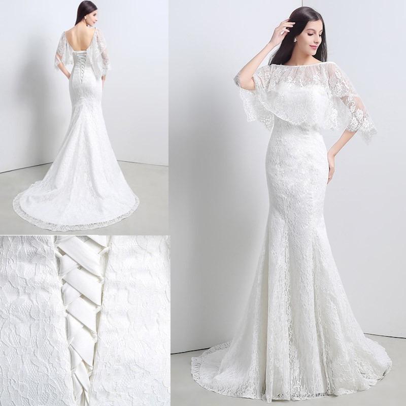 Hermoso Vestido De Novia Encaje Corte Sirena Boda - $ 3,500.00 en ...