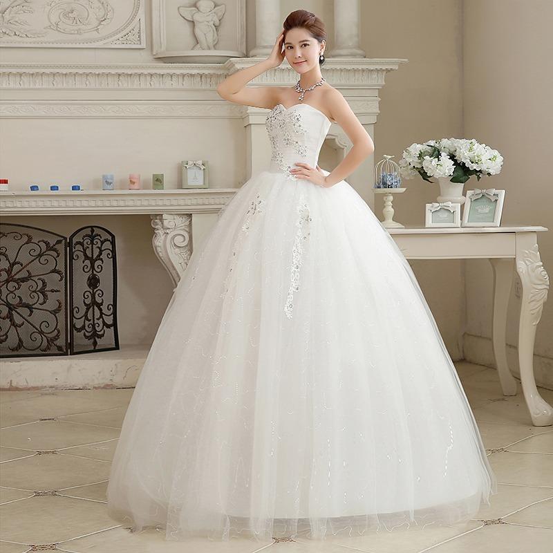 hermoso vestido de novia nuevo blanco tipo corset con encaje