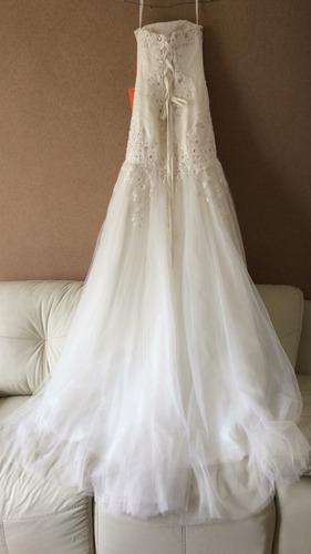 hermoso vestido de novia nuevo, talla chica