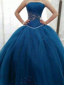 0003f9848 Vestido Xv Años Color Azul Petroleo - Vestidos de Mujer en Mercado ...