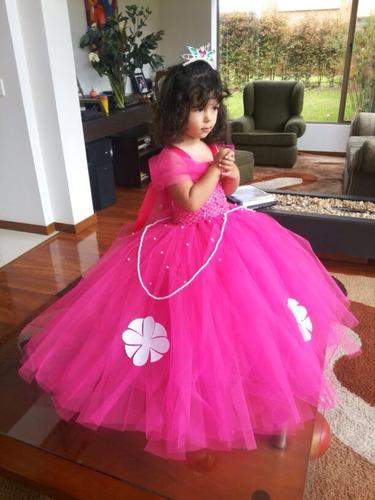 hermoso vestido disfraz princesa sofia tutus aurora bella.