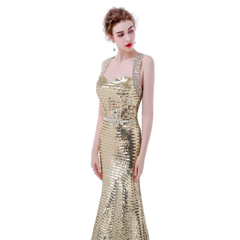 a3f38bb37cb hermoso vestido dorado noche gala fiesta boda graduación. Cargando zoom.