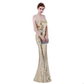 7dd5ec951 Hermoso Vestido Dorado Para Graduacion en Mercado Libre México