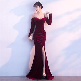 ffbe9547c Hermoso Vestido Drapeado Con Abertura Y Escote Corazón · 6 colores