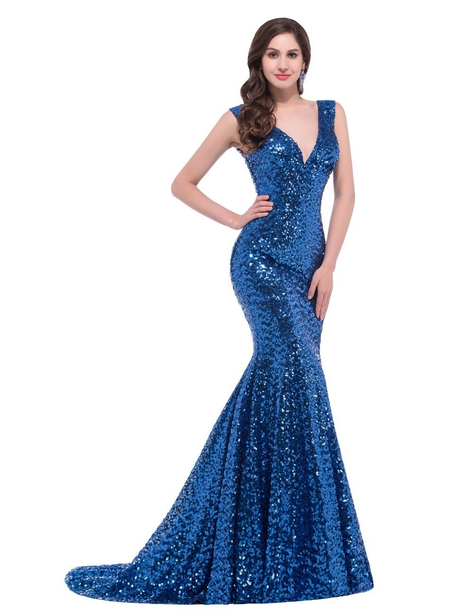 f5d050ccf hermoso vestido fiesta noche azul rey mediano envío gratis. Cargando zoom.
