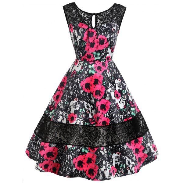 Vestidos elegantes floreados