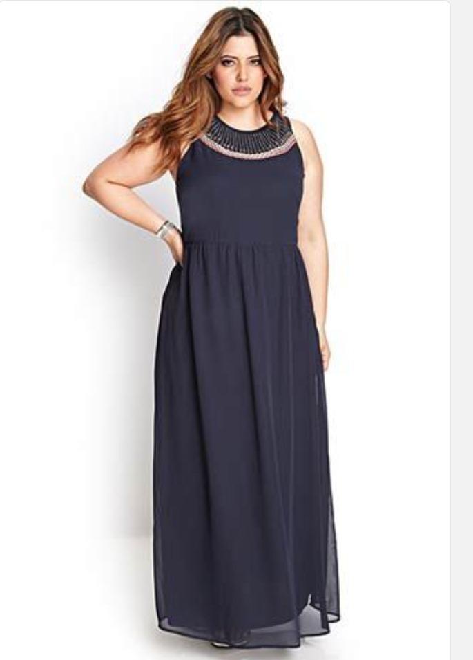 Hermoso Vestido Forever 21 Talla Extra O Plus - $ 800.00 ...