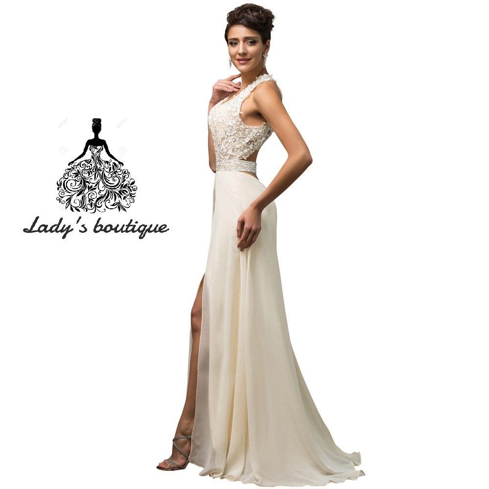 936d17c6e0 hermoso vestido largo boda aplicación guipur sequin. Cargando zoom.