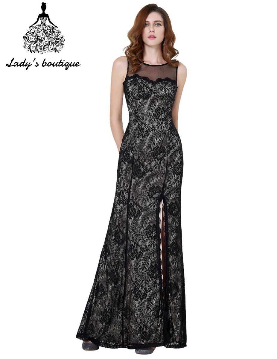 893a7d146 hermoso vestido largo de encaje fiesta graduación. Cargando zoom.