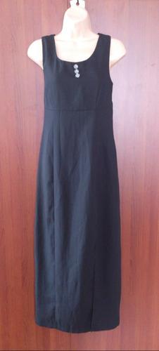 hermoso vestido negro botones con brillo americano