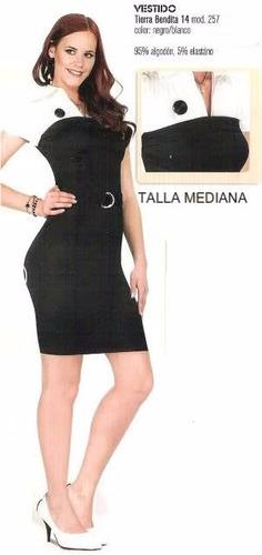 hermoso vestido negro con blanco corto tierra vendita