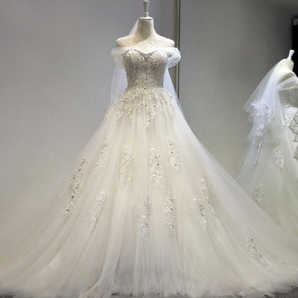 3c662eae0 Hermoso Vestido Novia Decorado Con Envio Gratis W-00108 -   3