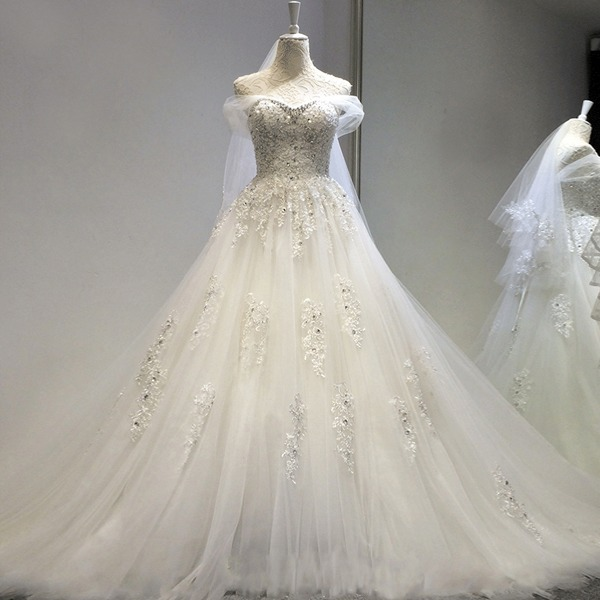 hermoso vestido novia decorado con envio gratis w-00108 - $ 3,500.00