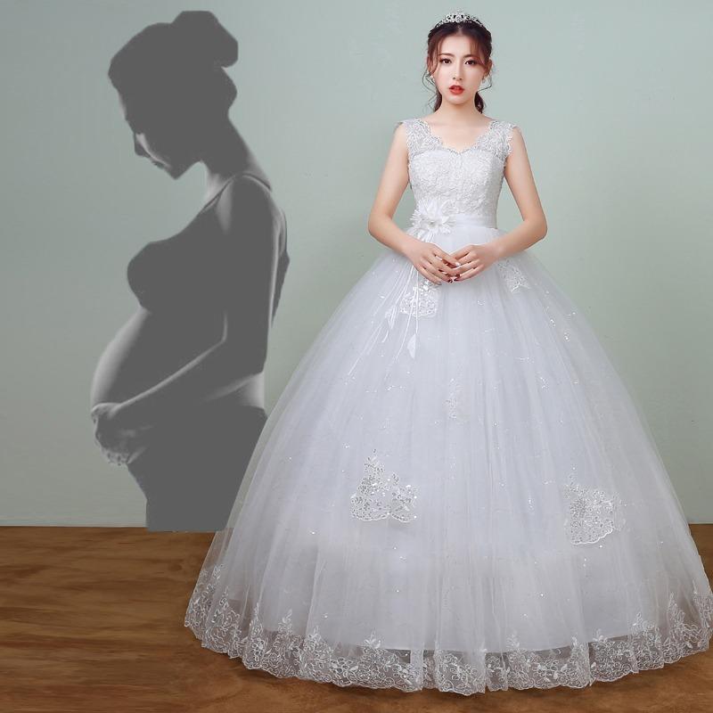 Hermoso Vestido Novia Embarazada Nuevo Falso