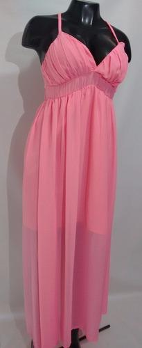 hermoso vestido para dama en seda color confite