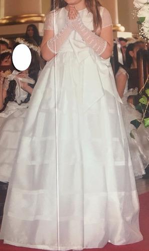 hermoso vestido primera comunión con accesorios