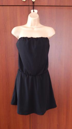 hermoso vestido straples negro canadience nuevo de remate...